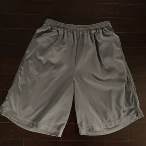 Nike gray medium dri-fit athletic shorts